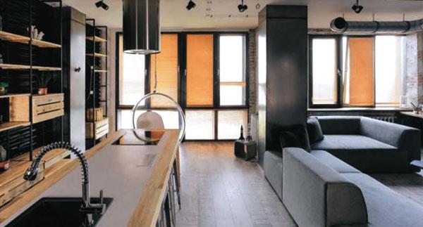кухня в стиле Open Space